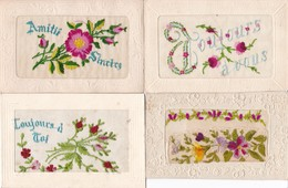 LOT/163......4 CPA BRODEES - 5 - 99 Postkaarten