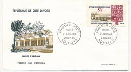 Côte D'Ivoire => Enveloppe FDC - 30f Musée D'Abidjan - ABIDJAN - 2 Nov 1968 - Ivory Coast (1960-...)