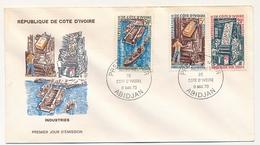 Côte D'Ivoire => Enveloppe FDC - Industries De Côte D'Ivoire - ABIDJAN - 9 Mai 1970 - Ivory Coast (1960-...)