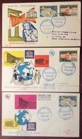 0178 Unesco 1177 1178 Inauguration Du Palais FDC Premier Jour 1/11/1958 Lot 3 Lettre - 1950-1959