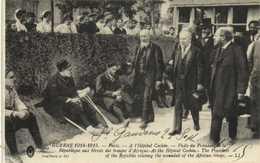 GUERRE 1914 1915 Paris Hopital Cochin Visite Du President De La Republique Aux Blessés Des Troupes D' Afrique RV - Guerra 1914-18