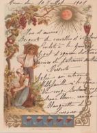 Menu Chromos Les Vendanges  Menu 10 Juillet 1901 - Menus