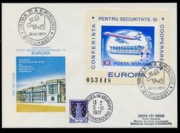 Roumanie - Rumänien - Romania FDC 1977 Y&T N°BF129 - Michel N°B143 - EUROPA KSZE - Conseil De L'Europe - FDC