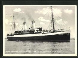 AK Passagierschiff Monte Sarmiento Der Hamburg-Südamerik. Dampfsch.-Ges. - Paquebots