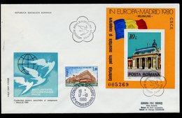 Roumanie - Rumänien - Romania FDC 1980 Y&T N°BF146 - Michel N°B174 - EUROPA KSZE - Conseil De L'Europe - FDC