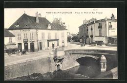CPA Nuits-Saint-Georges, Place Du Pont Et Rue Thurot - Nuits Saint Georges