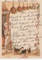 Menu Chromos Le Cuisinier  Menu Du 10 Juillet 1901 - Menus
