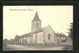 CPA Marsannay-le-Bois, L`Église,  Vue De L'Église - France