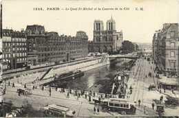 PARIS Le Quai St Michel Et La Caserne De La Cité RV - Arrondissement: 04
