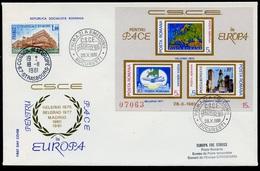 Roumanie - Rumänien - Romania FDC 1981 Y&T N°BF146b - Michel N°B183 -15l - EUROPA KSZE - Conseil De L'Europe - FDC