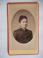 PHOTO CDV Femme ELEGANTE COIFFURE  MODE  Cabinet DE L UNION A PARIS - Anciennes (Av. 1900)