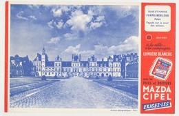 Buvard 20.7 X 13.5 La Pile MAZDA éclairage Portatif N° 22 Château De Fontainebleau Seine Et Marne - Electricité & Gaz