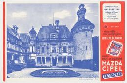 Buvard 20.7 X 13.5 La Pile MAZDA éclairage Portatif N° 24 Château D'Uson Pons-Egreteau Charente Maritime - Electricité & Gaz