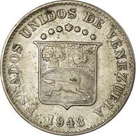 Monnaie, Venezuela, 5 Centimos, 1948, Philadelphie, TTB, Copper-nickel, KM:29a - Venezuela