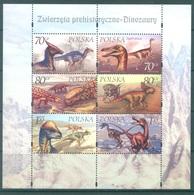 POLAND - 2000 - MNH/** - PREHISTORICAL FAUNA - Yv 3586-3591 Mi 3811-3816 BLOCK 139 - Lot 21248 - MINISHEETS - 1944-.... République