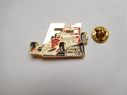 Superbe Pin's , Auto Honda , F1 , Formule 1 , Carburant SHELL , Grand Prix De France , Tabac Marlboro , Signé N Emaux - F1