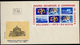 Europa KSZE 1973 Roumanie - Rumänien - Romania FDC Y&T N°BF109 - Michel N°B108 - Idées Européennes