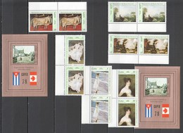 F642 1978 CUBA ART PAINTINGS NATIONAL MUSEUM CAPEX EXHIBITION 2SET+2BL MNH - Arts