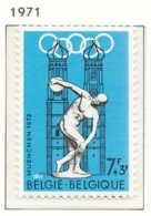 NB - [150914]SUP//**/Mnh-N° 1590, Jeux Olympiques De Munich 1972, Discobole Et Cathédrale De Munich, SNC - Belgium