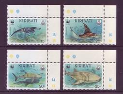 Kiribati 1991 - W.W.F., Pesci In Estinsione, 4v MNH** Integri E Angolo Di Foglio - Fishes