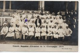 Grande Semaine D'Aviation De La Champagne 1910-carte Photo - France