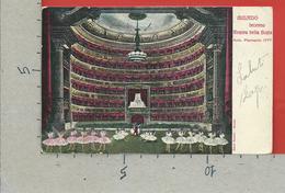 CARTOLINA VG ITALIA - MILANO - Interno Teatro Della Scala - Arch. Piermarini - 9 X 14 - 1908 CARPI TASSATA FRANCIA - Milano