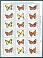 POLAND - 1991 - MNH/** - PAPILLONS BUTTERFLIES 3 SET OF 6 STAMPS  Yv 3144-3149 Mi 3343-3348 - Lot 21251 - MINISHEET - 1944-.... République