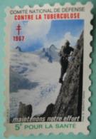Grand Timbre Vignette De 1967 Du Comité De Défense Contre La Tuberculose - Commemorative Labels