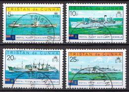 Tristan Da Cunha Used Set And SS - Ships