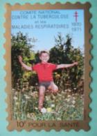 Grand Timbre Vignette De 1970-71 Du Comité De Défense Contre La Tuberculose - Commemorative Labels