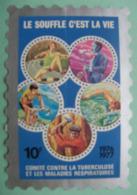 Grand Timbre Vignette De 1976-77 Du Comité De Défense Contre La Tuberculose - Commemorative Labels