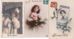 LOT167......3 CPA GRETE REINWALD - 5 - 99 Postkaarten