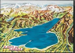 LAGO DI GARDA - PROSPETTIVA IN RILIEVO - NON VIAGGIATA - Carte Geografiche