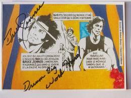 CP - Bruce JENNER - Signé / Hand Signed / Dédicace Authentique / Autographe - Athlétisme