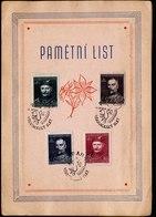 A6572) Czechoslovakia CSR Sonderfaltkarte 06.07.48 - Briefe U. Dokumente