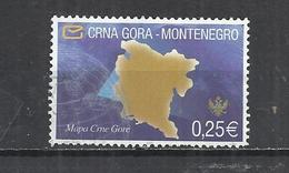 MONTENEGRO 2006 - MAP OF MONTENEGRO - POSTALLY USED OBLITERE GESTEMPELT USADO - Montenegro
