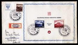 A6573) Czechoslovakia CSR R-Brief Bratislava 01.11.37 Mit Block 1 N. Graz / Österreich - Tschechoslowakei/CSSR