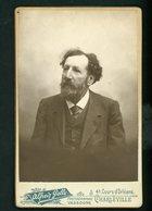 PHOTO ORIGINALE (10X14,5) SUR CARTON (10,5X16,5) -  PORTRAIT D'UN HOMME PAR ALFRED GELLY À CHARLEVILLE - Anciennes (Av. 1900)