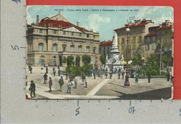 CARTOLINA VG ITALIA - MILANO - Piazza Della Scala - Teatro E Monumento A Leonardo Da Vinci - 9 X 14 - 1908 CARPI FRANCIA - Milano