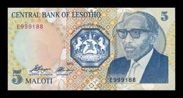 Lesoto Lesotho 5 Maloti 1989 Pick 10 SC UNC - Lesotho