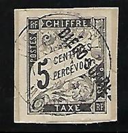 C116  Ex. Col. Française Diégo-Suarez Taxe N°7 Obl. Sur Fragment - Used Stamps