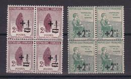 D119/ LOT N° 162/163 BLOC DE 4  NEUF ** COTE 10€ - France