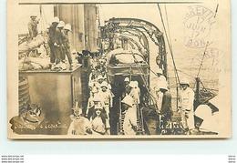 Carte-Photo - Paquebot - Le Défilé - Baptême De L'Equateur - Cachet Libreville Gabon - Passagiersschepen