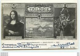 Célébrité Artiste Dédicace - Mona Lisa - Salon Des Indépendants Grand Palais 1933 - André Maillos - Artistes