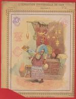 Protége Cahier Ancien Fin XIXéme Collection  L'exposition Universelle De 1889 Marchand De Limonade - Protège-cahiers
