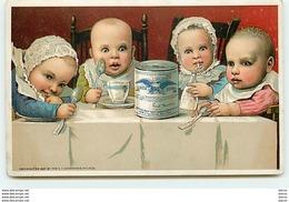 Chromo Gail Borden Eagle Brand - Condensed Milk - Bébés à Table - Chromos