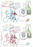 1984 Championnat D'Europe De Football : Saint-Etienne :2 Entiers Postaux - Championnat D'Europe (UEFA)