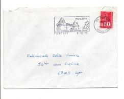 FLAMME CHATEAU DE PONTIVY MLORBIHAN 1975 - Postmark Collection (Covers)