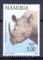 NAMIBIA South West Africa 1997 BLACK RHINO Animal Mnh** - Namibie (1990- ...)
