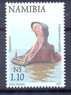 NAMIBIA Scott # 863 Used Hippopotamus, 1997 Animal Mnh** - Namibie (1990- ...)